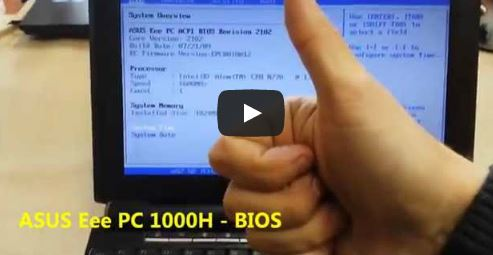 ASUS Eee PC 1000H jak wejść do BIOSa guzik F2