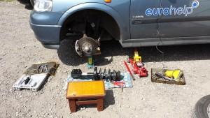 Wymiana Amortyzatorów Przednich - Opel Astra G