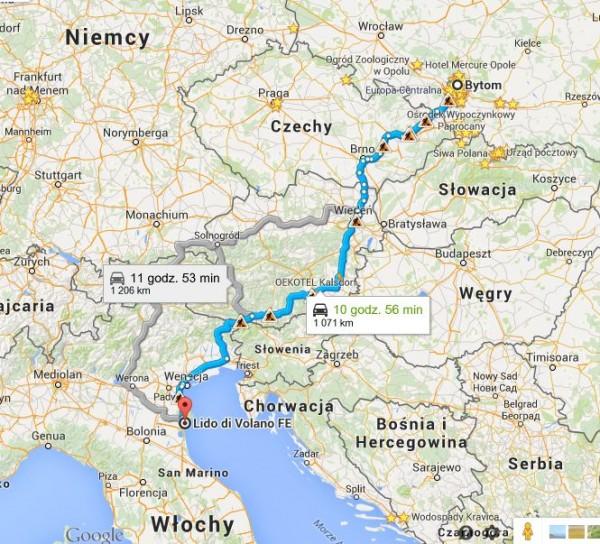 Polska Włochy Samochodem