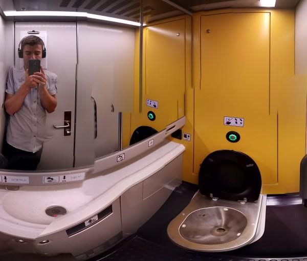 Toaleta Pendolinoa Wagon 2 Klasy