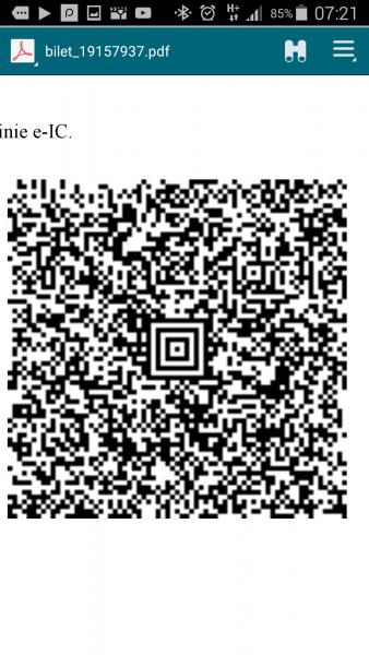 InterCity Bilet PDF z kodem QR