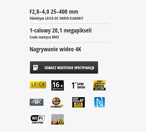 Panasonic FZ1000 RECENZJA cechy