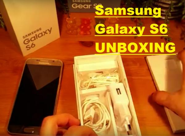 Samsung Galaxy S6 Unboxing Rozpakowanie Opakowania