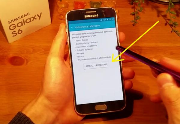 Samsung Galaxy S6 Ustawienia Fabryczne Resetuj Urządzenie