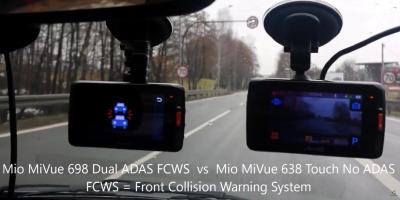 Mio MiVue 698 Dual ADAS FCWS TEST Front Collision Warning System