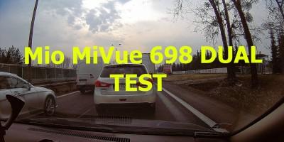 TEST Mio MiVue 698 DUAL 1296p 30fps Wideorejestrator Samochodowy z GPS Extreme HD