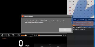 "MiVue Manager Komunikat ""Musisz Zainstalować kodeki MOV i AVI"" Zainstaluj K LITE Mio"