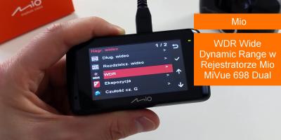 WDR Wide Dynamic Range w Rejestratorze Mio MiVue 698 Dual