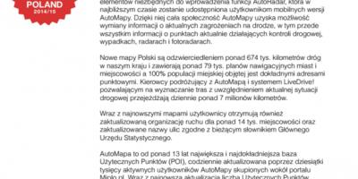 AutoMapa udostępnia najnowsze mapy Polski i Europy AutoRadar