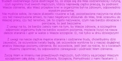 Wesołe Życzenia na Dzień Kobiet od Bogdana - 8 Marca 2016