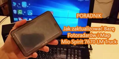 Aktualizacja Fotoradarów i Map w Nawigacji Mio Spirit 7670 LM Truck MioMore Desktop 7.50