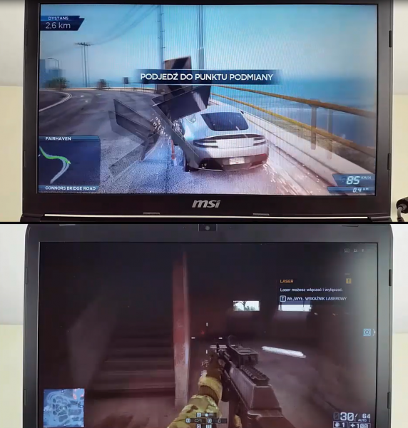 MSI GE72 6QC Apache Battlefield 4 NFS Most Wanted TEST Nvidia GTX960M GPU