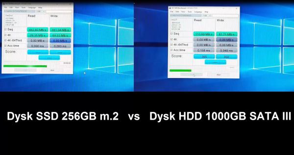 MSI GE72 6QC Apache Dysk SSD HDD Benchmark AS SSD Test