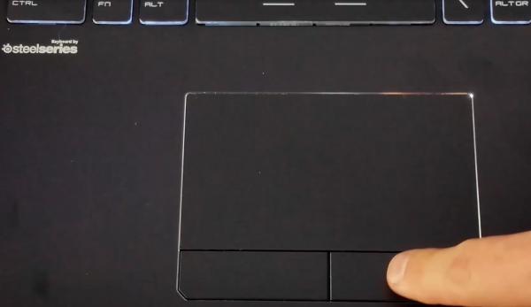 MSI GE72 6QC Apache Touchpad