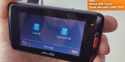 Mio MiVue 638 Touch DUAL MicroSD CARD TEST (2)