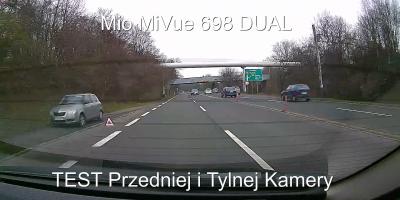 Mio MiVue 698 Dual TEST KAMER Przód Tył POLICJA NA SYGNALE 1080p FULL HD Ultra HD