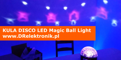 Kula Disco LED Magic Ball Light www.DRelektronik.pl