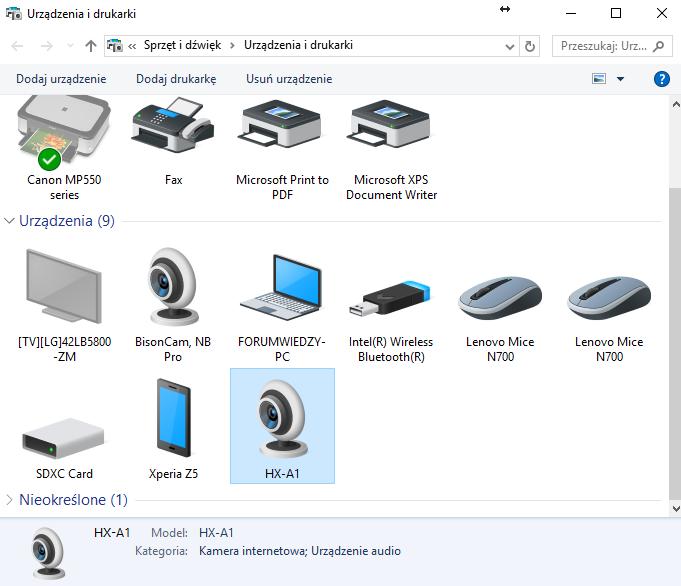 Panasonic HX-A1ME Funkcja Kamery Internetowej Camera WEB