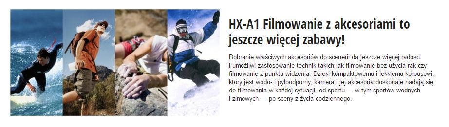 Panasonic HX-A1ME Uchwyty i Mocowania Info