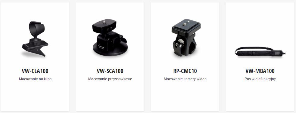 Panasonic HX-A1ME Uchwyty i Mocowania