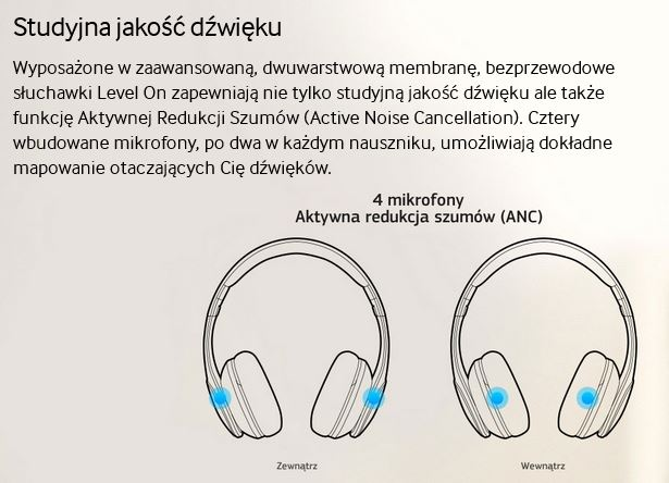 Samsung Level On Wireless DŹWIĘK JAKOŚĆ STUDYJNA
