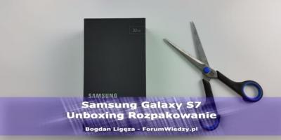 Samsung Galaxy S7 Rozpakowanie Unboxing