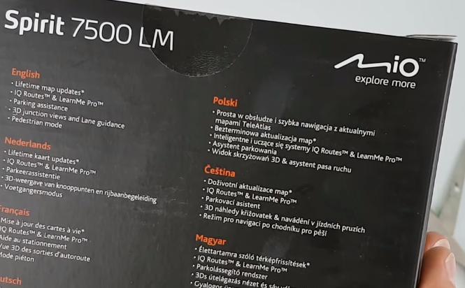 Mio Spirit 7500 LM Bezterminowa Aktualizacja Map