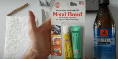 Klej Do Metalu METAL BOND Epoksyd Do Napraw i Łączenia Metali PL