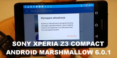 Aktualizacja Android Marsmallow 6.0.1 Sony Xperia Z3 Compact TEST AnTuTu PL