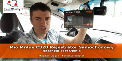 Mio MiVue c320 Rejestrator Samochodowy - Recenzja Test Opinia PL