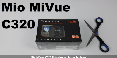 Mio MiVue C320 Rejestrator Samochodowy Unboxing Rozpakowanie Uruchomienie