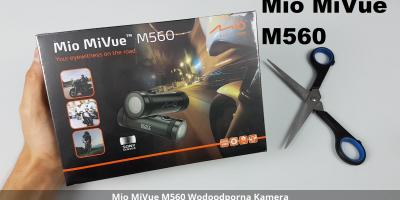 Mio MiVue M560 Kamera Motorowa Unboxing Rozpakowanie Uruchomienie