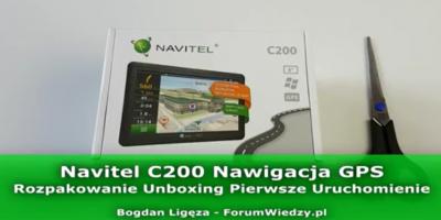 Navitel C200 Nawigacja Samochodowa - Rozpakowanie Pierwsze Uruchomienie PL