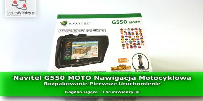 Navitel G550 MOTO Nawigacja Motocyklowa Rozpakowanie Pierwsze Uruchomienie PL