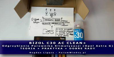 BIZOL C30 AC Clean+ Odgrzybianie Parownika Klimatyzacji Poradnik PL