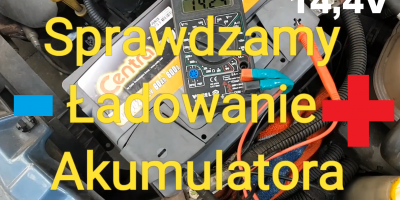 Sprawdzanie Ładowania Akumulatora - Test Napięcia z Alternatora 12V 24V
