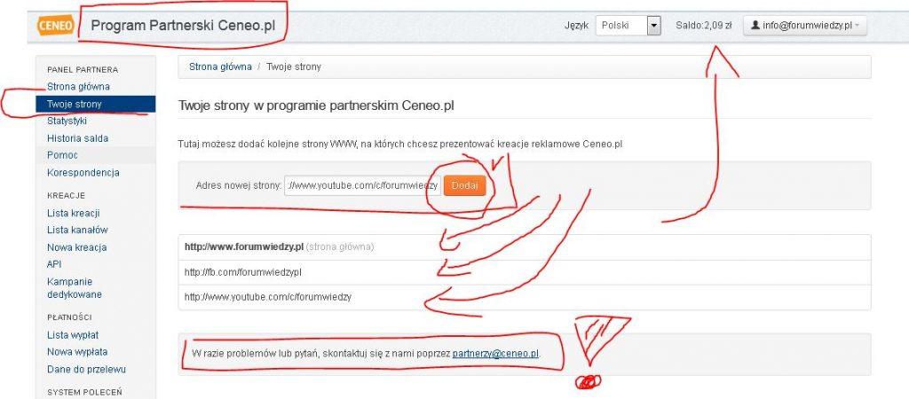 program partnerski ceneo.pl Twoje Strony