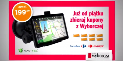 Promocja NAVITEL nawigacji c200 za 199 zł w Gazecie Wyborczej
