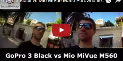 GoPro 3 Black vs Mio MiVue M560 Porównanie FULL HD