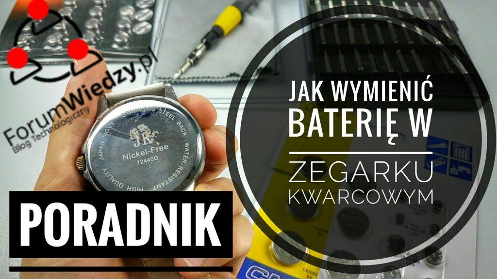 Jak Wymienić Baterię w Zegarku Kwarcowym PORADNIK