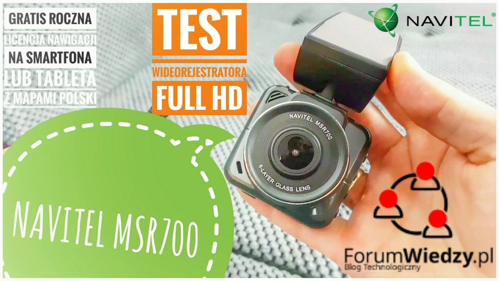 NAVITEL MSR700 TEST Kamery Samochodowej