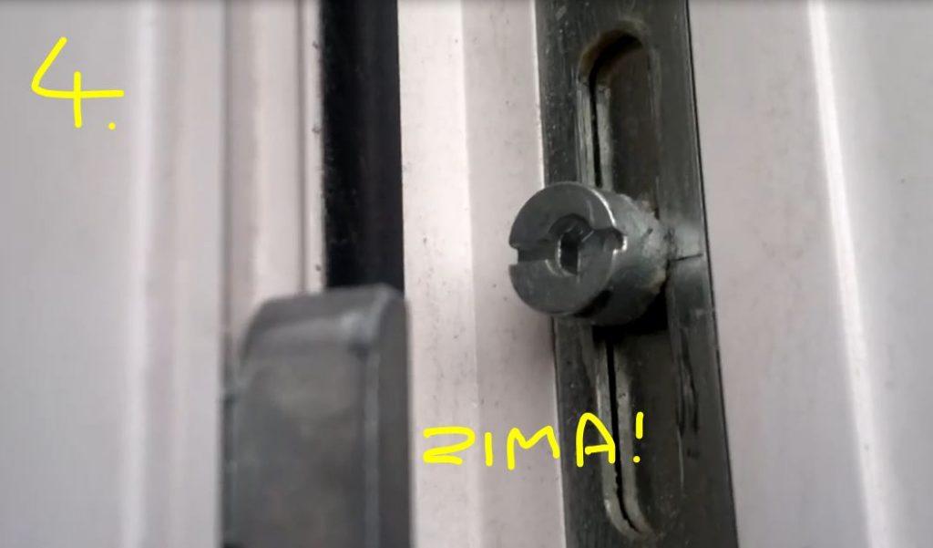 4 Jak wyregulować okno plastikowe PCV - Docisk Skrzydła do Uszczelki Zima - Ustawienie na Zimę