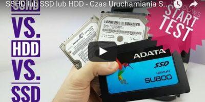 SSHD lub SSD lub HDD - Czas Uruchamiania Systemu Windows #SpeedTest