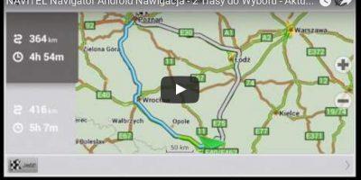 NAVITEL Navigator Android Nawigacja - 2 Trasy do Wyboru - Aktualizacja Automatyczna