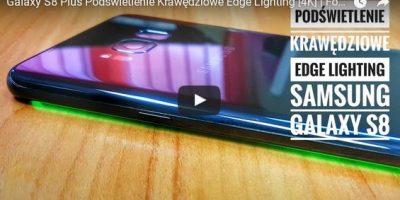 Galaxy S8 Plus Podświetlenie Krawędziowe Edge Lighting