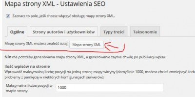 SEO Mapa Strony XML SiteMap Yoast