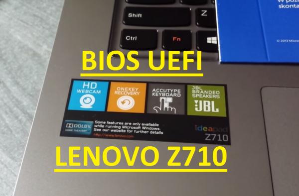 Lenovo IdeaPad Z710 BIOS UEFI