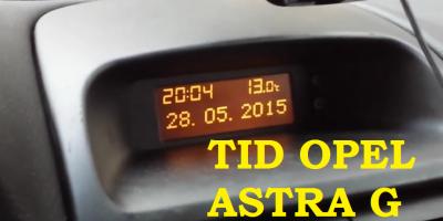 TID Opel Astra G - wymiana żarówek wyświetlacza r5 2W 12V x2