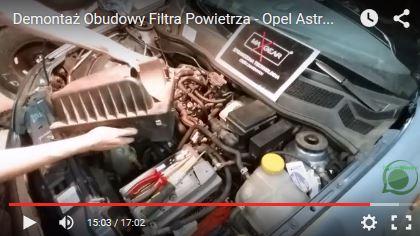 Demontaż Obudowy Filtra Powietrza - Opel Astra G - www.APARTS.pl