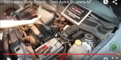 Demontaż Rury Ssącej Dolotu Powietrza - Opel Astra G - www.APARTS.pl
